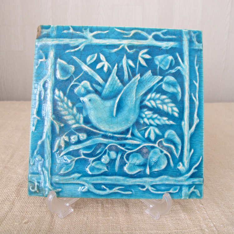 ターコイズブルーの小鳥のタイル MAjORICA